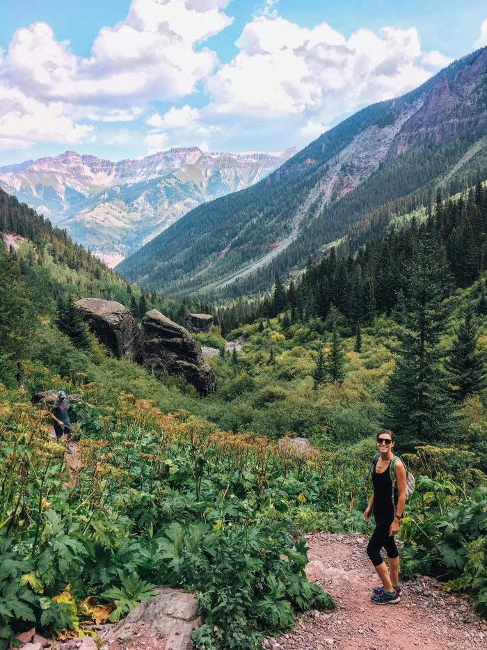 Hiking Bear Creek Trail in Telluride, Colorado